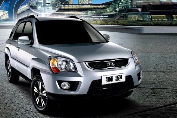 狮跑是起亚汽车推出的一款融合轿车、mpv和suv等车型功能高清图片