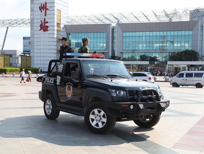 北京汽车四海店助力惠州特警